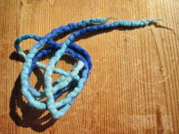 dreadmind dreadlocks shop Filzschnüre blau