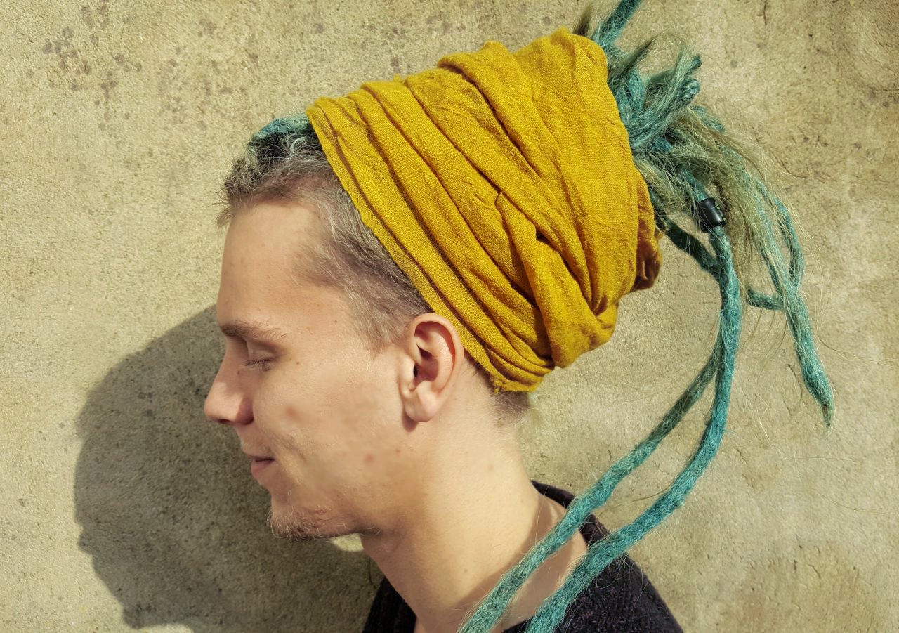 Dreadmind-Dreadshop-Kleidung-Schal-senfgelb